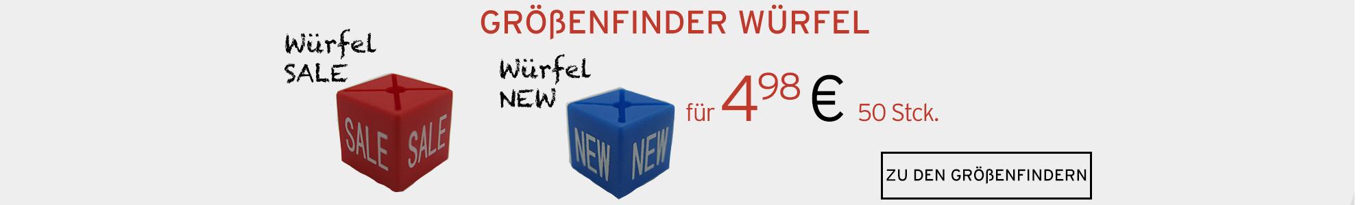 Größenfinder Würfel SALE und NEW