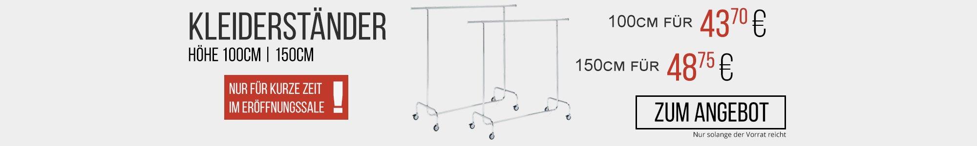 Kleiderständer in 100 oder 150cm ab 43.70EUR